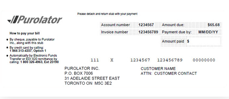 Invoice Delivery Payment Example