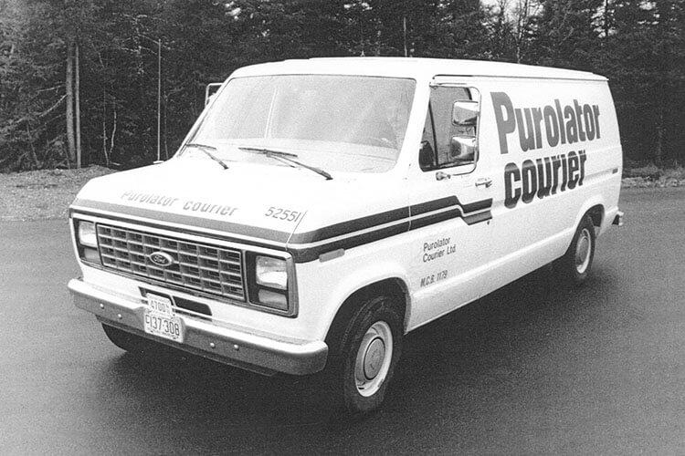 old Purolator truck