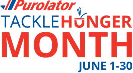 Purolator Tackle Hunger Month June 1-30